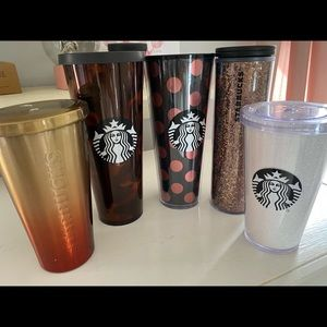 (5) Starbucks Hot/Cold Tumblrs